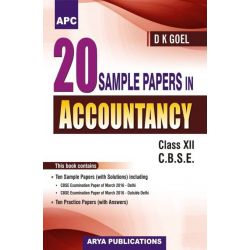 20 Sample Papers In Accountancy Class- XII