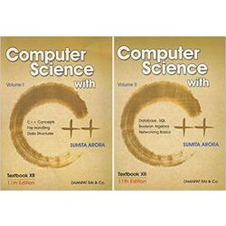 Computer Science With C++ For Class XII Volume I & II(Set Of 2 Books)