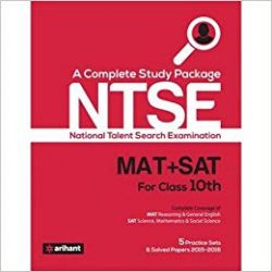 A Complete Study Guide Ntse  Mat   Sat  For Class 10Th