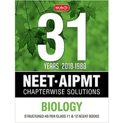 31 Years Neet-Aipmt Chapterwise Solutions - Biology 2018