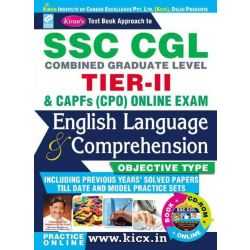 Kiran's SSC CGL Tier – II English Language & Comprehension (With CD)