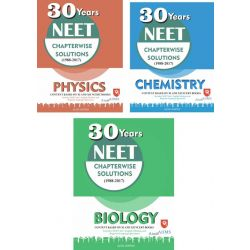 NEET 30 Years Chapterwise Solutions : Physics Chemistry & Biology Combo