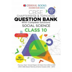 Oswaal CBSE Question Bank For Class 10 Social Science