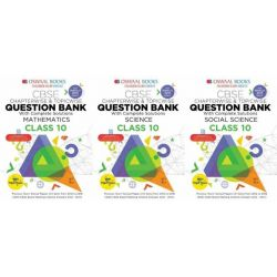 Oswaal Class 10 Question Bank Combo (Mathematics + Science + Social Science)
