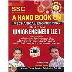 SSC A Hand Book On Mechanical Engineering  Junior Engineer