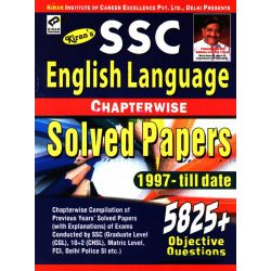 SSC English Language Chapterwise Solved Papers 1997-Till Date